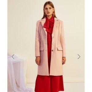 NWT Keepsake Can't Forget blush wool coat XXS